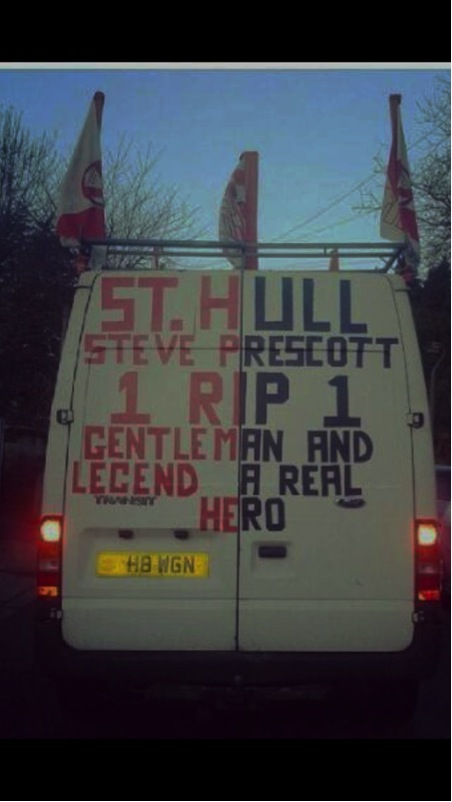 Tribute van to Steve Prescott