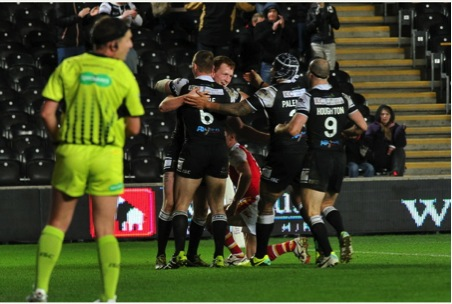 Hull FC celebrations