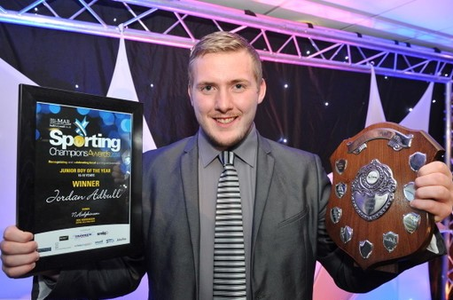 NEWS/SPORT...with James Smailes, 06/11/14  :  Hull Daily Mail Sporting Champion Awards, held at the Wilberforce Suite, KC Stadium, Hull.  Pictured, Sporting Champion Award Winner, Jordan Abdull.  Picture: Jerome Ellerby