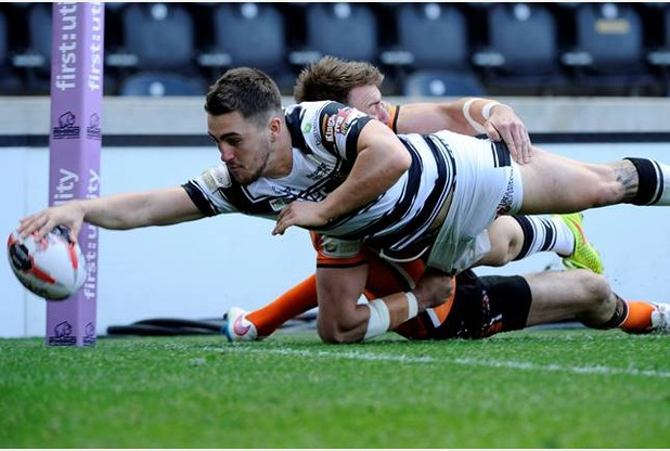 SPORT  16.05.15  -  Hull FC v Castleford Tigers at the KC Stadium for the Challenge Cup Sixth Round. Curtis Naughton scores try.   Picture: Jack Harland