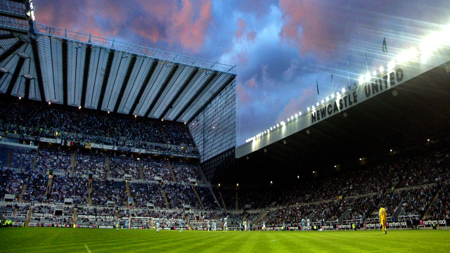 NEWCASTLE, UNITED KINGDOM - JULY 26:   St James' park sky during the pre-season friendly match between Newcastle United and Glasgow Celtic at St James Park on July 26, 2007 in Newcastle-Upon-Tyne, England.  (Photo by Serena Taylor/Newcastle Utd via Getty Images)