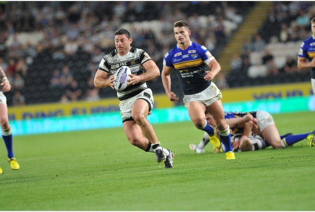 SPORT...with Paul Clarke, 21/08/15  :  Hull FC v Leeds Rhinos, held at KC Stadium, Hull.  Pictured, Mark Minichiello Picture: Jerome Ellerby first half