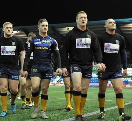 Widnes. Widnes Vikings v Hull FC in the First Utility Super League Round 5 clash at the Select Security Stadium, Widnes on Thursday 10th March 2016. Hull FC players during the Widnes Vikings v Hull FC First Utility Super League Round 5 clash. MANDATORY CREDIT: RLPIX.COM For editorial use only. Copyright remains property of rlpix.com