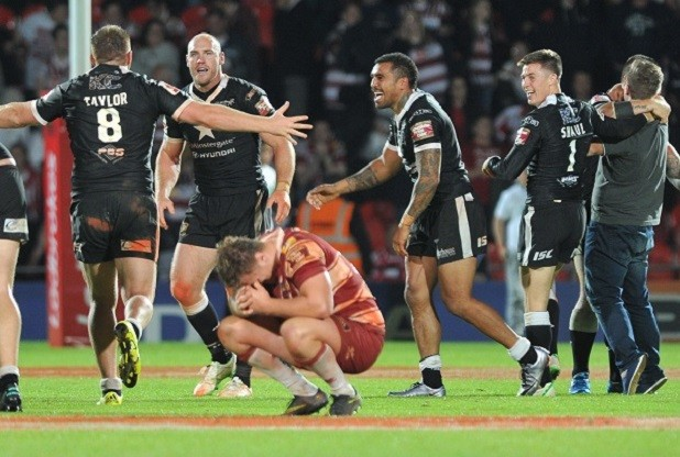 SPORT...with Paul Clarke, 29/07/16 : Challenge Cup Semi-Final, Hull FC v Wigan Warriors, held at The Keepmoat Stadium, Doncaster. Pictured, Hull FC celebrate winning Picture: Jerome Ellerby Lee Radford Gareth Ellis Mark Sneyd Steve Michaels