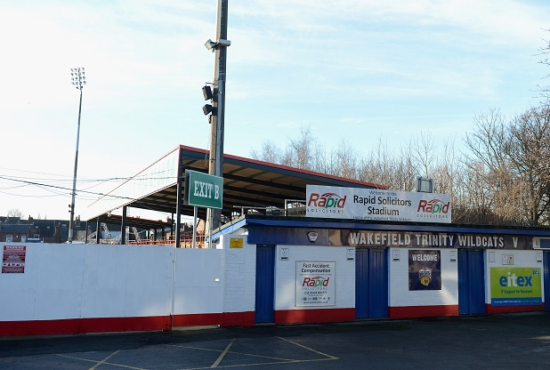 WAKEFIELD, UNITED KINGDOM - JANUARY 09:  General view of Belle Vue Stadium, home of the Wakefield Trinity Wildcats on January 9, 2013 in Wakefield, United Kingdom.  (Photo by Gareth Copley/Getty Images)